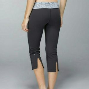 Lululemon Gather and Crow Crops Petite Fleur